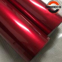50cm*200cm/300cm Luxury Glossy Metallic Red Vinyl For Car Wrap Film With Air Channel Pearl Shinny Sticker Vehicel Wraps