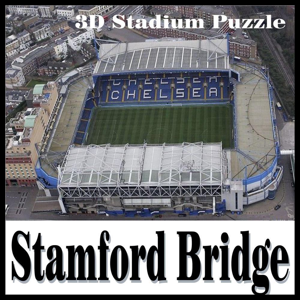 Clever&Happy 3d Puzzle Stamford Bridge Stadium Adult Drawings Model Chelsea Learning & Education DIY Handmade Model Toyster