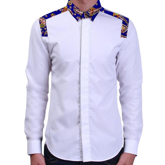 Africano de impresión mens camisas a medida hecho mosaico diseña ropa de áfrica dashiki africana de la manera ropa