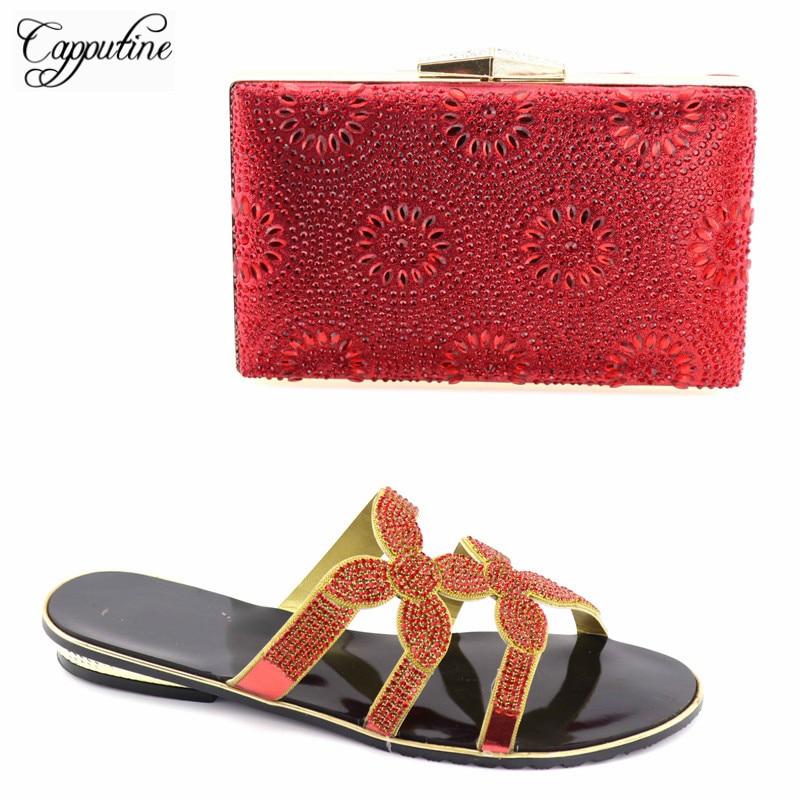 Rouge Italiennes Chaussures Ensemble Vente or Nigérian Strass Avec Taille 43 37 02 Couleur rouge Tx Capputine Et Bleu Décoré En Sac 85xd1I1q