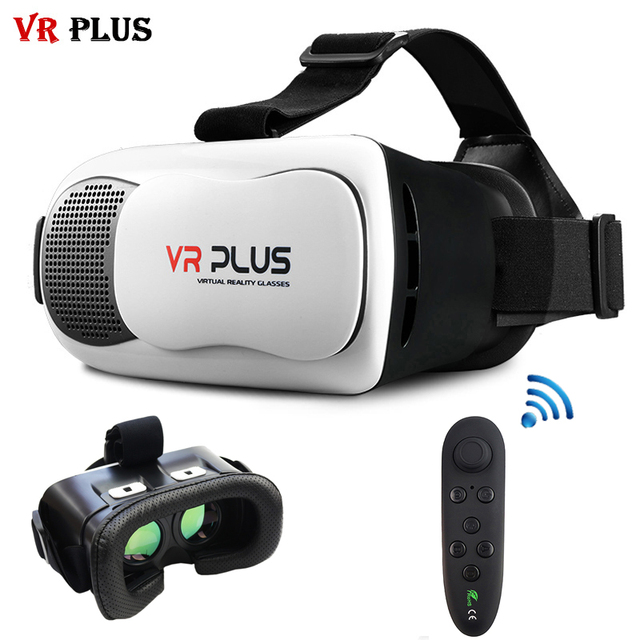 VR Box 3.0 VR Plus Mobile Virtual Reality Helmet 3D Glasses Coating Glass Lenses vrbox Googles Cardboard Headset for 4-6' Phone