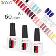Esmalte de Gel de uñas GDCOCO 2019 nuevos colores Semi permanente esmalte de uñas Canni suministro rápido seco 8 ml esmalte de Gel color Gel polaco