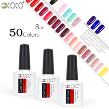 GDCOCO Nail Gel Polish 2019 Newest Colors Semi Permanent Canni Supply Fast Dry 8ml Varnish Coat Color polish