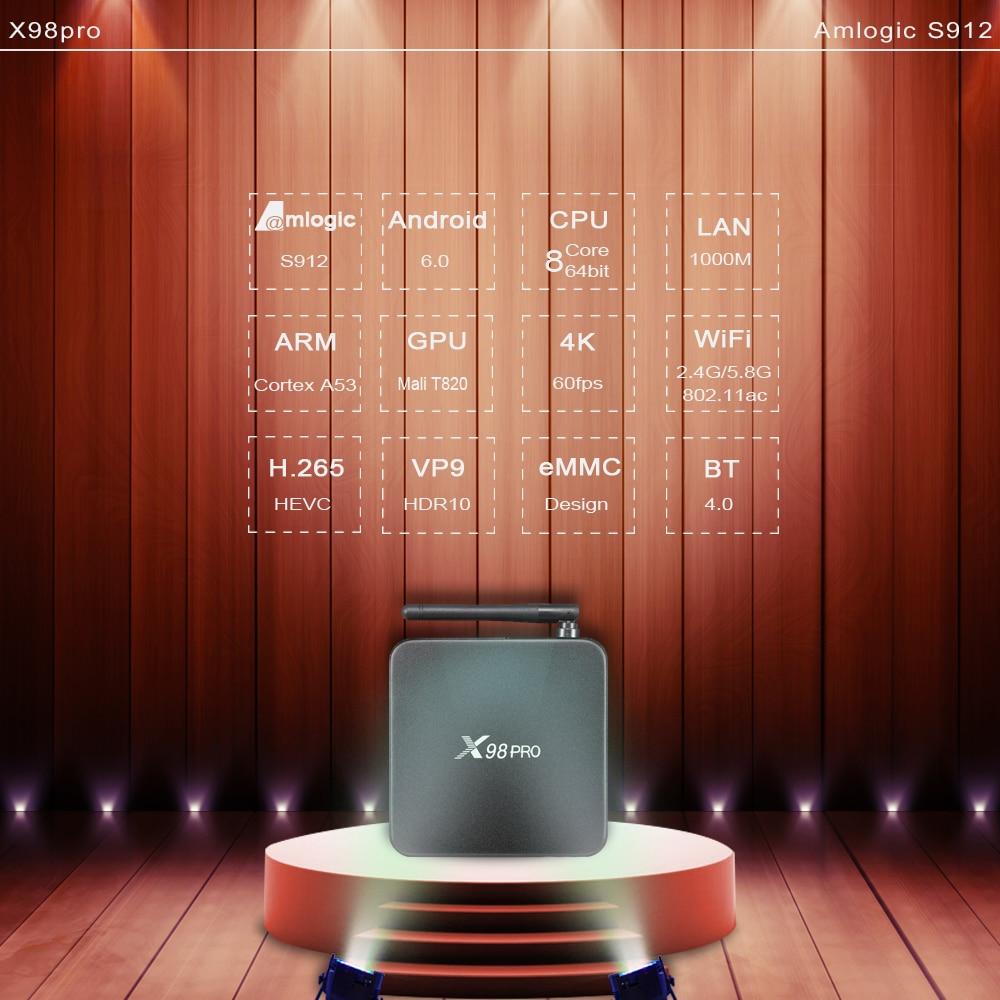 X98 PRO TV Box IPTV French Arabic 2GB 16GB Amlogic S912 3 6 12 Months SUBTV Subscription Albania Turkey Arabic French IPTV Box (6)