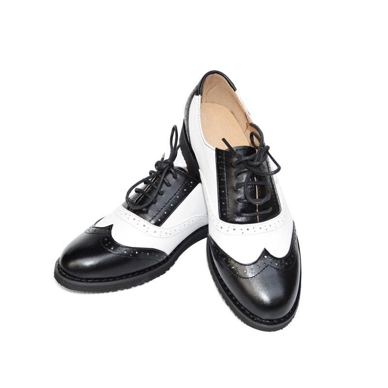 สิทธิบัตรหนัง Vintage Oxfords Lace Up สีขาวสีดำผู้ชาย Oxford รองเท้าผู้ชายแบน US ขนาด 6 12.5 หนังรองเท้าผู้ชาย batai-ใน ออกซ์ฟอร์ดส จาก รองเท้า บน AliExpress - 11.11_สิบเอ็ด สิบเอ็ดวันคนโสด 1