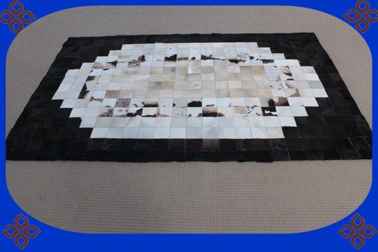 Fashionable art carpet 100% natural genuine cowhide leather play matFashionable art carpet 100% natural genuine cowhide leather play mat