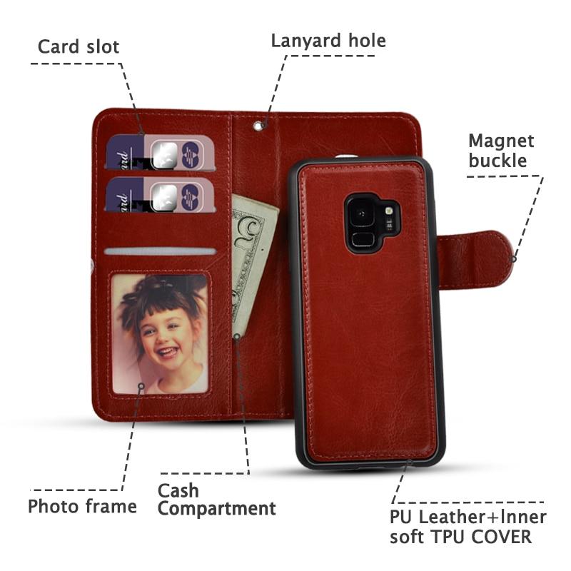 LANCASE Samsung Galaxy S7 Edge Case Wallet Flip անջատվող - Բջջային հեռախոսի պարագաներ և պահեստամասեր - Լուսանկար 2