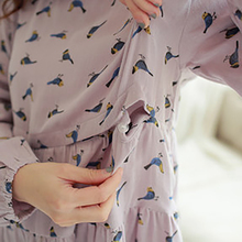 Summer Maternity Pajamas Set Nursing Clothes For Pregnant Women Homewear Women Soft Cotton Maternity Nightgown Nursing 60M0054