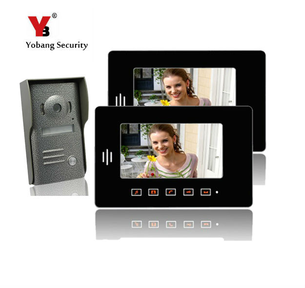 Yobang Security 7inch TFT Video Door Phone with Night Vision Door Camera  2 Monitor Video Intercom Apartment Doorbell Phone 3 5 inch tft led audio video security tester cctv camera monitor