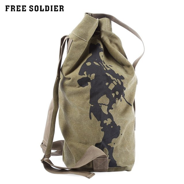 2d47078e8006 FREE SOLDIER 33L Tactical Climbing Backpack Barrel Bag Men Military Backpack  Canvas Mountain Hiking Backpack Camping
