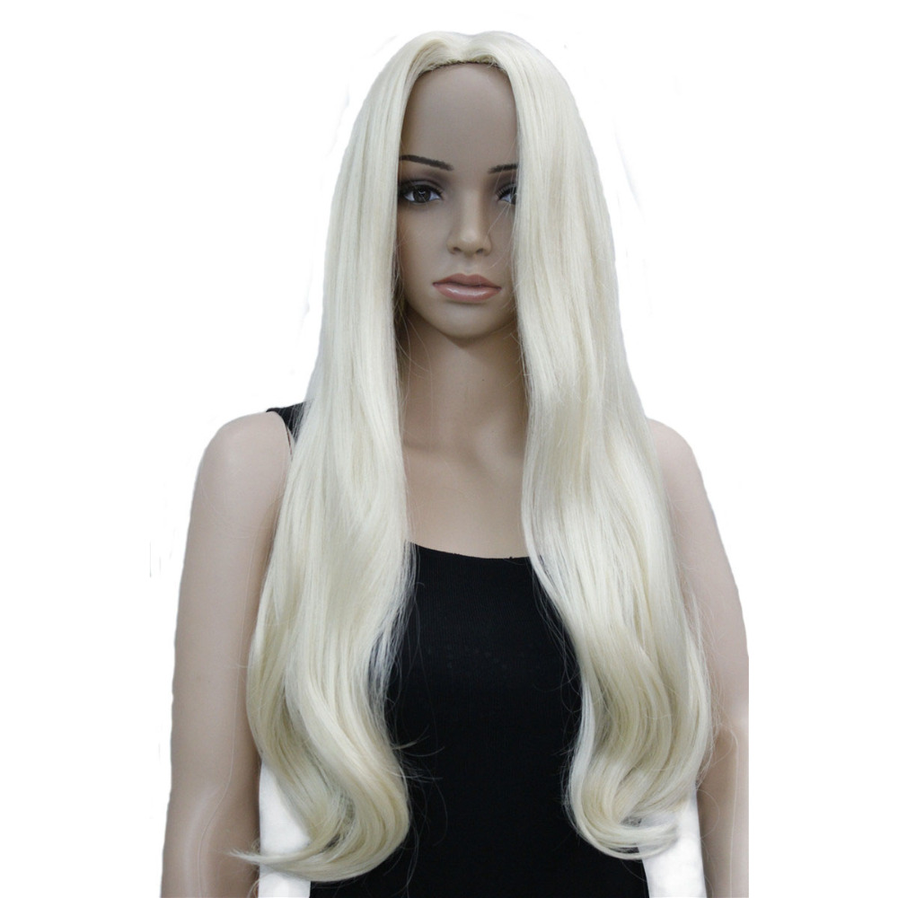 Strong Beauty Synthetic Long Natural Wave Capless Blonde Wigs For Women