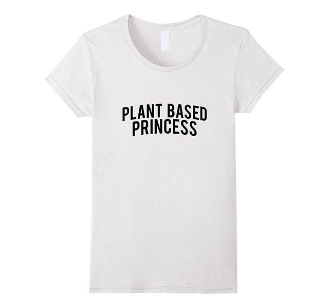 c0734fafb60 US $13.04 13% OFF|Plant Based Princess T Shirt Vegan, Vegetarian Shirt  Women'S T Shirt Discount Girl T Shirts High Quality Ladies Print-in  T-Shirts ...