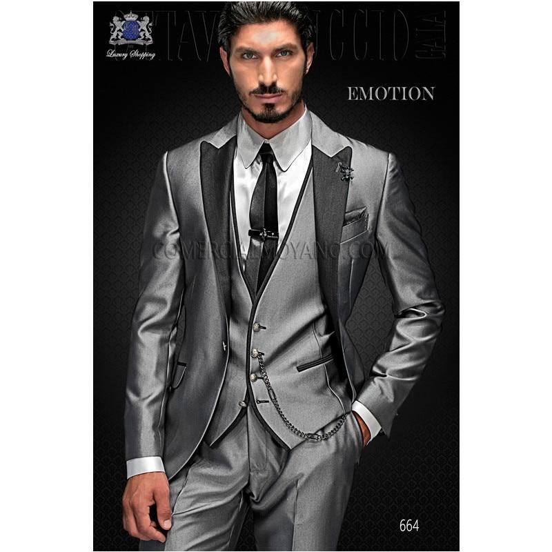 Metallic Grey Suit | My Dress Tip