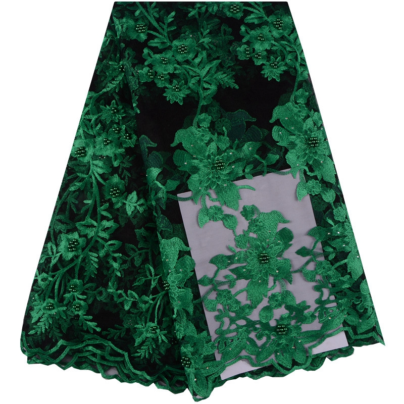 Fashion Embroidery African Bridal French Lace Fabric For Nigerian Party Tulle French Lace Fabric With Plenty