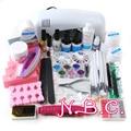 Professional Full Set UV Gel Kit Nail Art Set + 9W White Curing UV Lamp Dryer Light Curining Nail Kit Mini Nail Bits From