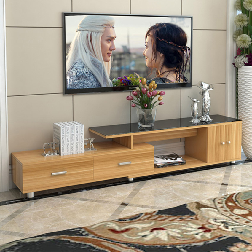 FZS-019 Length Scalable TV Stand Table Living Room Home Furniture Modern Style Wooden Panel TV Stand TV Cabinet Assembly