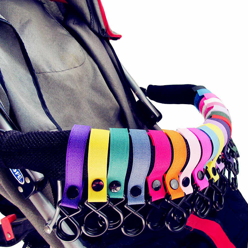 8 Color High Quality Convenient Plastic Baby Stroller Accessories Pram Hook Pushchair Car Hanger Hanging Strap Hot Sale 2019