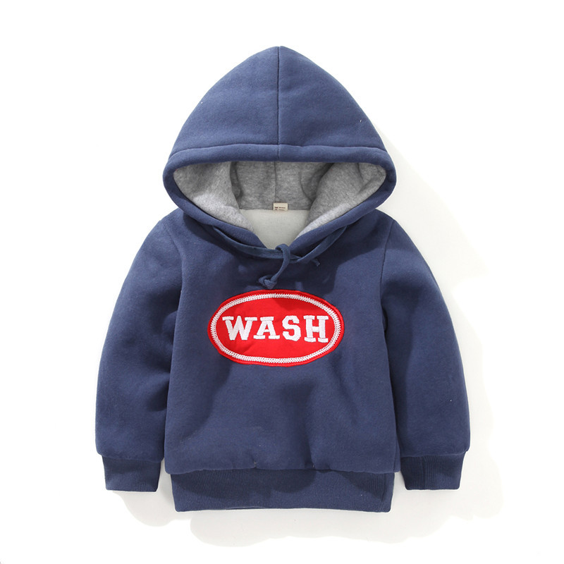 Y-11, Winter children boys thick sweatshirt hoodies, WASH, kids solid long sleeve thick outwear.