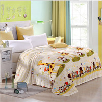 High Quality Super Soft Flannel Single Double Blanket Cartoon Children Blanket 180 200cm Free Delivery