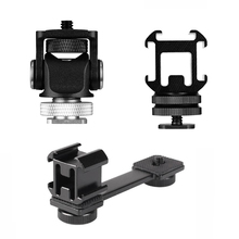 Triple Hot Shoe Mount Adapter Flash Microphone Bracket Holder for Smooth 4 DJI Osmo Pocket Video Camera Gimbal Flash Accessories