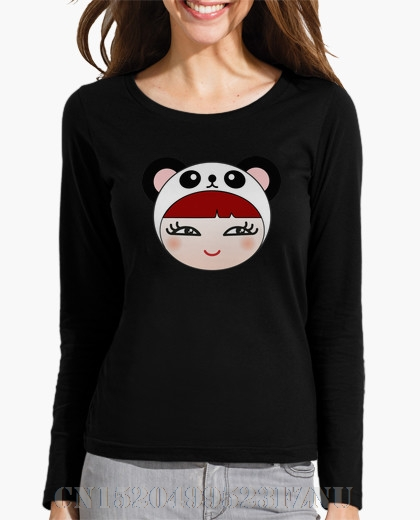 New 2017 Favourite women Long Sleeve Girl hand collar O neck Letter Knitted anime casual women t shirt
