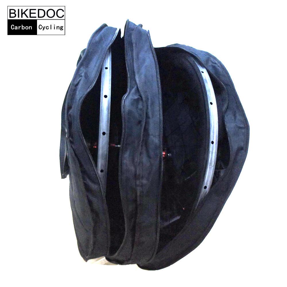 BIKEDOC 700c Road Bicycle Wheel Bag Only 550g <font><b>Light</b></font> Weight Double Wheel Bag Carrier Bag Carrying Package Bike Accessory