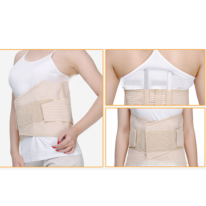 High Quality Medical Grade Lumbosacral Back Support Breathable Compression Lumbar Support Brace Belt Waist Care double pull lumbar support lower back belt brace band waist four aluminium strips protection back waist support belt yw 01m27