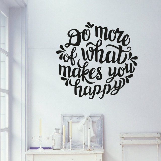 Do What Make You Happy Wall Decals Wall Stickers Living Room Bedroom Home  Decor Murals Vinyl