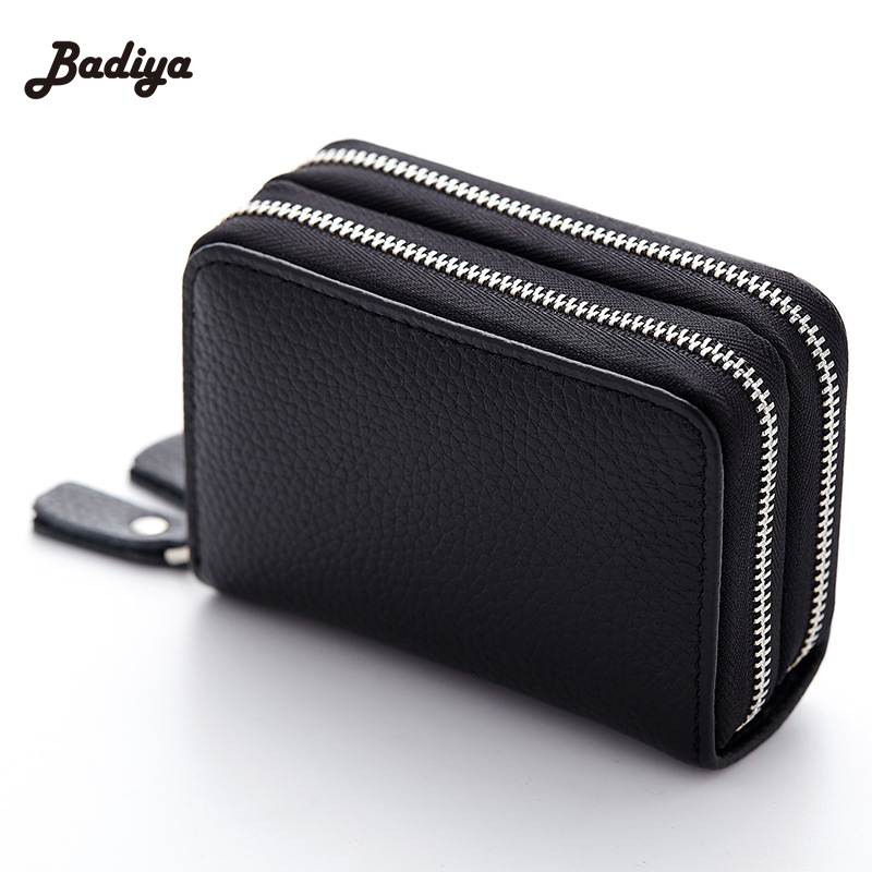 Genuine Leather Women Card Bags Solid Clutch Wallets For Woman Large Capacity Ladies Coin Purse Wallet New Credit Card Package fashion colorful lady lovely coin purse solid golden umbrella clutch wallet large capacity zipper women small bag cute card hold