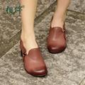 2017 spring women pumps brand women shoes elegant platform genuine leather ladies shoes medium heels