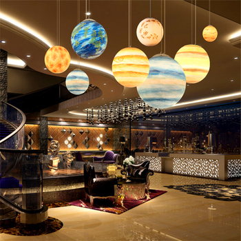 Nordic Pendant Lights Resin Planet Bedroom Living Room Study Lamp Loft Restaurant Modern Reading Kitchen Hanging Lamps