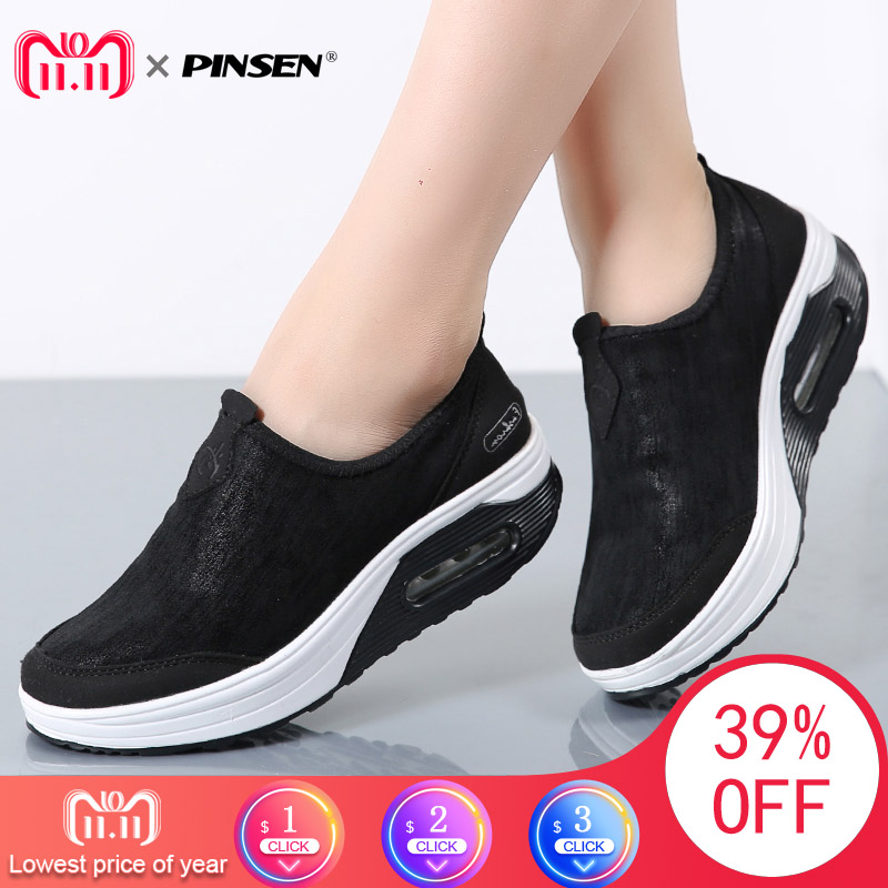 PINSEN 2017 Women Flat Platform Shoes Woman Winter With Fur Slip on Comfortab Warm Loafers Moccasins Platform creepers shoes pinsen 2018 spring flat shoes women genuine leather solid slip on moccasins loafers shoes woman round toe ladies shoes creepers