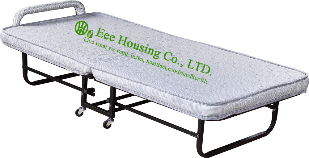 Hotel Extra Folding Bed,9cm Mattress Beds For Hotel Guest Room Single Size Roll Away Folding Hotel Extra Bed