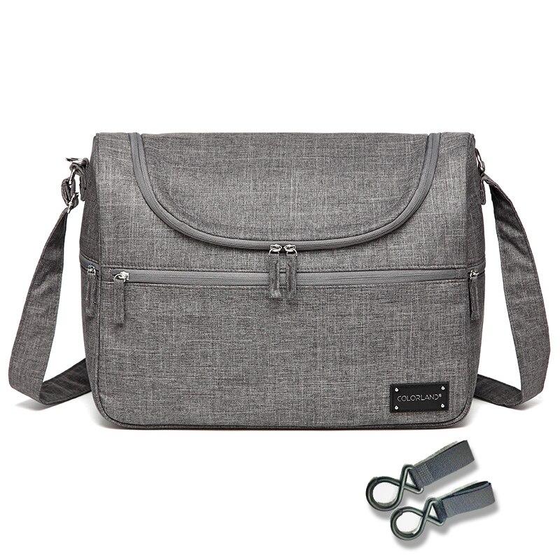 Colorland Märke Baby Väskor Messenger Stort Blöja Väska Organizer Design Nappy Väskor För Mamma Fashion Mor Moderskap Barnvagn