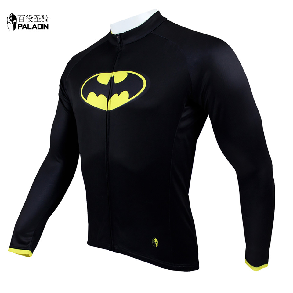 89c1d7a5e PALADIN 2015 New Cool Men Cycling Skinsuit Long Sleeve Hero Union Batman  Bike Clothes Breathable Black High Quality 034-in Cycling Jerseys from  Sports ...