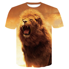 Newest t shirt homme 3d men Fashion Animal  Lion Hipster Funny short sleeve Summer street Hip-hop Tee Male Tops