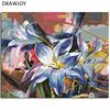 Newest Flower Framless Picture Home Decor DIY Acrylic Oil Painting By Numbers Wall Art DIY Canvas