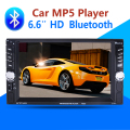 2 Din Car Video Player 6.6'' HD Bluetooth Stereo Radio FM MP3 MP4 MP5 Audio USB Auto Electronics autoradio steering-wheel 2din