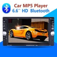 """2 Din Coche Reproductor de Vídeo 6.6 """"HD Bluetooth Stereo Radio FM MP3 MP4 MP5 USB Audio autoradio Auto Electrónica volante 2din"""
