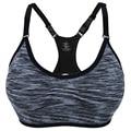 Professional Women Shakeproof Bra Brassiere Adjustable Push Up Stretch Vest Seamless Underwear Fitness Tank