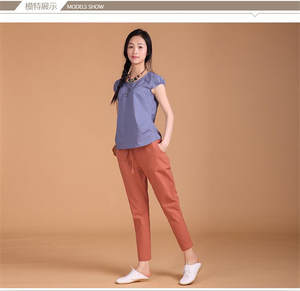 5b7a097e889 Haoduoyi 2018 Casual Plus size Women pants trousers Black