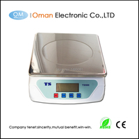 Oman T500A Digital Multifunction Kitchen and Food Scale, Stainless Steel Platform with LCD Display, 25kg, (Silver)