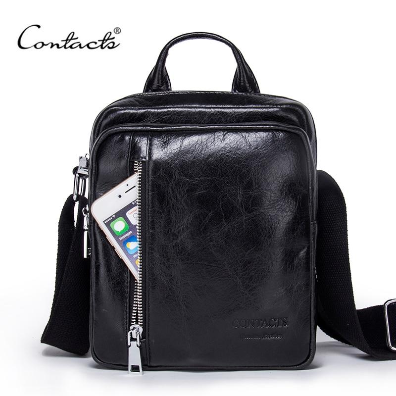 Контакта Для мужчин сумка 2018 Мода Для мужчин S Сумки на плечо высокое качество Пояса из натуральной кожи Повседневное сумка Бизнес Для Мужчи...