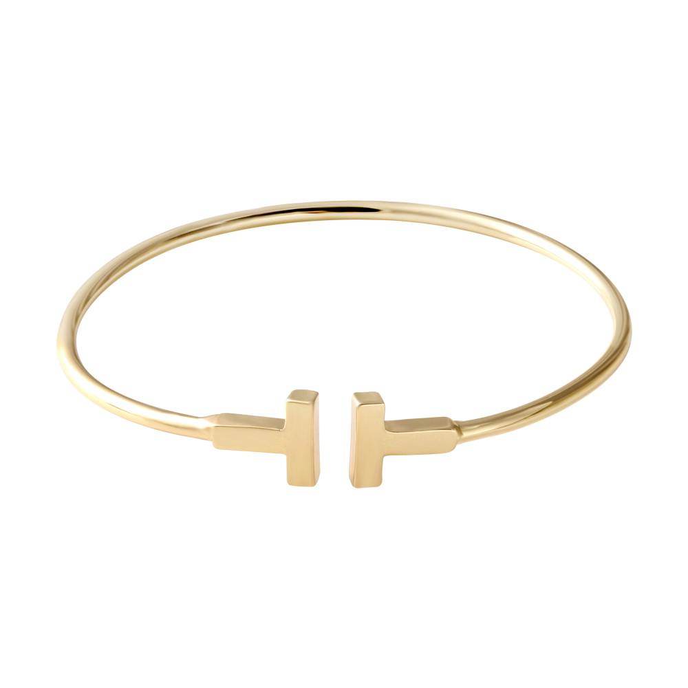 Senfai Brand 2016 New Design Silver/Gold/Rose Gold Cuff Bangle Top Quality Simple Fashion Bracelet Bangle for Women