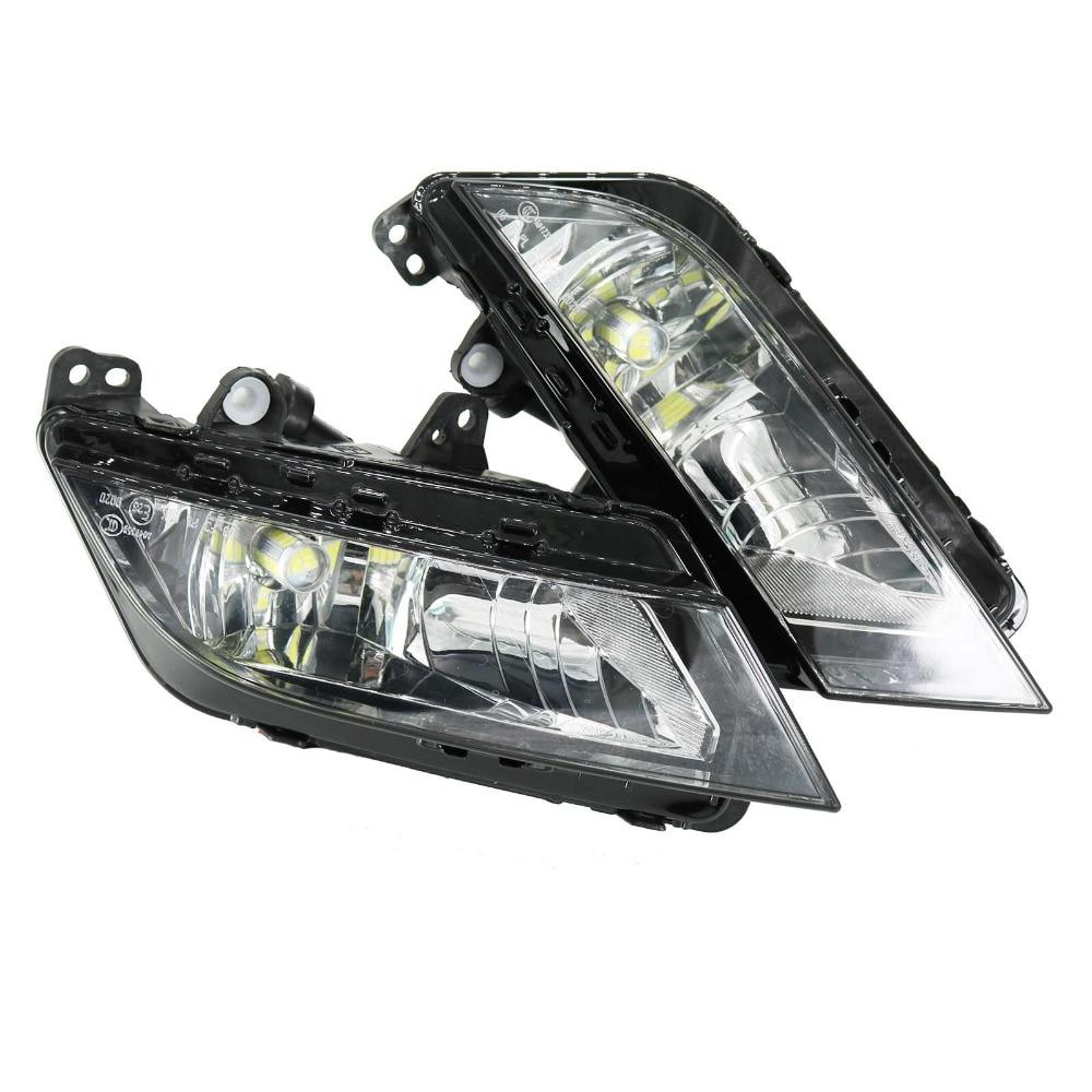 цена на 2Pcs New Car LED Light For Seat Ibiza 2013 -2017 12V Front Bumper LED Fog Light Fog Lamp
