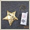 Kawai unisex baby bags 2016 Fashion creative boys girls messenger bags cute gold stars kids coin purses cloth star children bags
