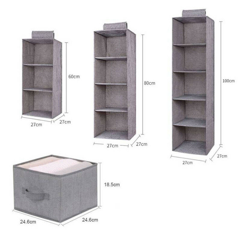 Image 4 - Cotton Closet Wardrobe Cabinet Organizer Hanging Pocket Drawer Clothes Storage Clothing Home Organization Accessories Supplies-in Hanging Organizers from Home & Garden
