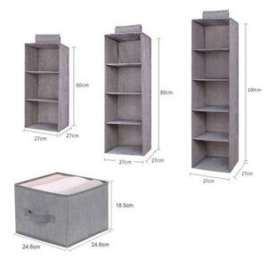 Image 4 - Cotton Closet Wardrobe Cabinet Organizer Hanging Pocket Drawer Clothes Storage Clothing Home Organization Accessories Supplies
