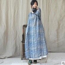 Летом года, новые товары, хлопок, лен, дизайн, Фирменное Качество, свободное женское платье больших размеров