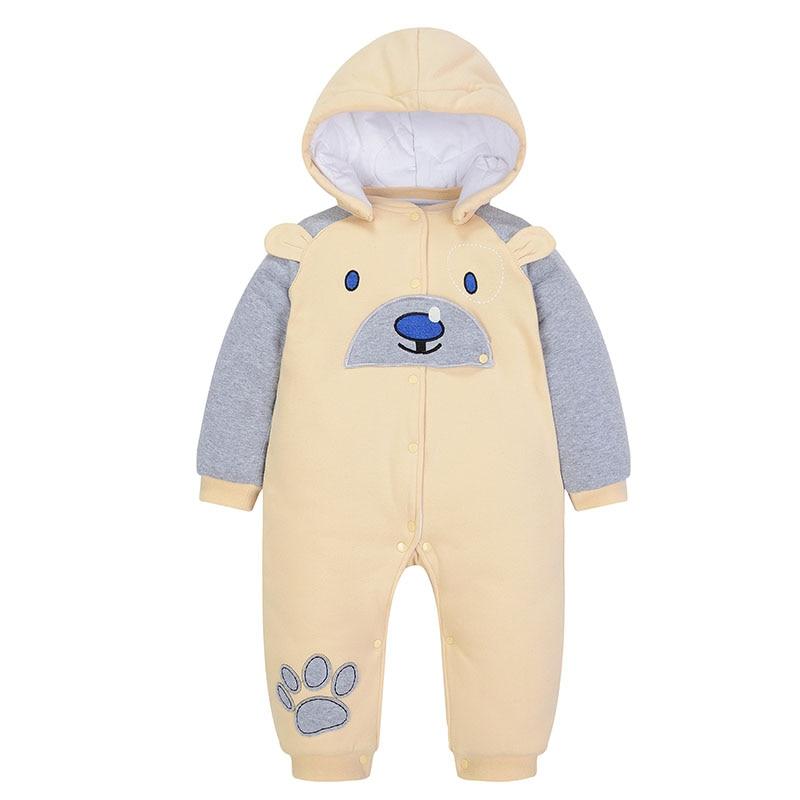 Latest Winter New Design Boy Clothing for Newborns Baby Winter-thickened one-piece Jump nika jump winter sport yellow